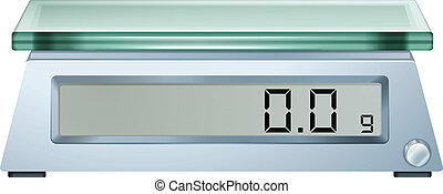 A digital weighing scale - Illustration of a digital ...