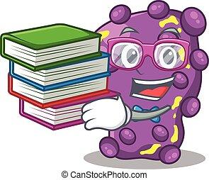 A diligent student in shigella mascot design concept with ...