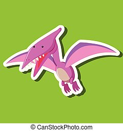 A dinosaur character on green background