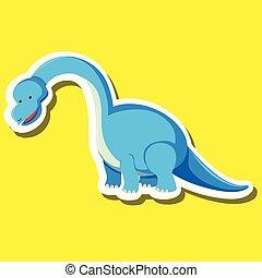 A dinosaur sticker character