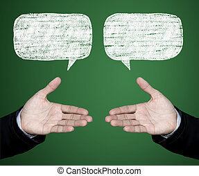 a, discutir, negotiations.