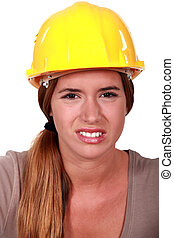 A disgusted tradeswoman
