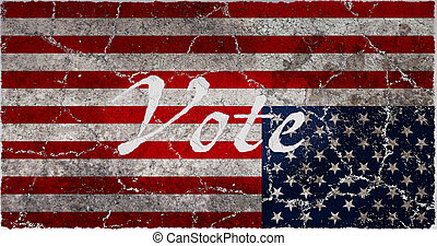 A Distressed American Flag Vote