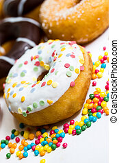 a diversity of different donuts