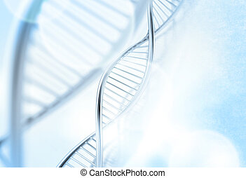 a dna in medical background - a dna in medical colour...