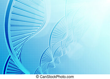 a dna in medical colour background