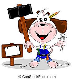 DIY cartoon dog - A do it yourself DIY cartoon dog with...