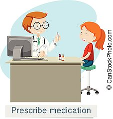 A Doctor Giving Prescribe Medicine