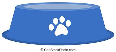 a dog or cat bowl to put food in