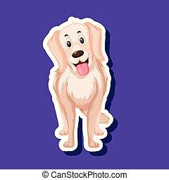 A dog sticker character
