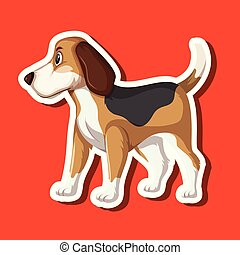 A dog sticker character