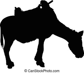 a donkey silhouette vector