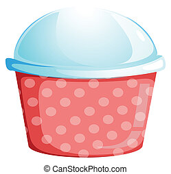 A dotted disposable container
