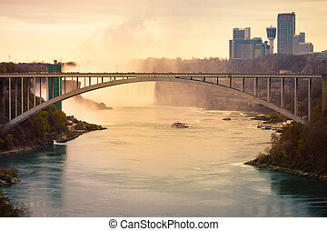 A down river view of Niagara Falls