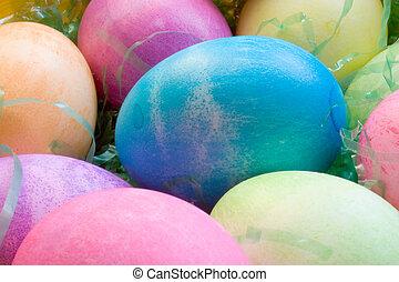 A Dozen Easter Eggs - A Dozen colored Easter eggs