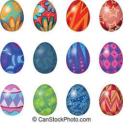 A dozen of easter eggs - Illustration of a dozen of easter...