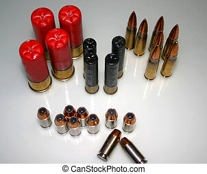 A Drawer Full - Various types of ammunition