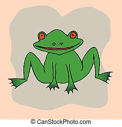 A drawing of a frog