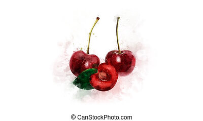 A drawing of a red Cherry appears