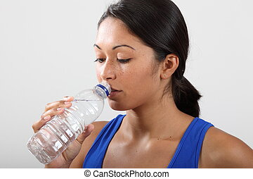 A drink of water after a workout