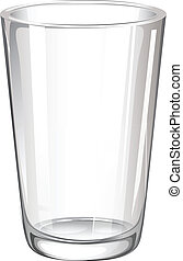 A drinking glass - Illustration of a drinking glass on a...