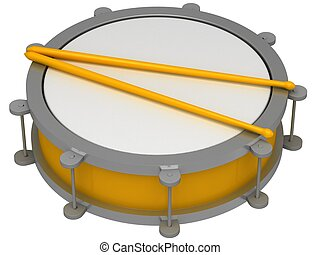 A drum with drumsticks