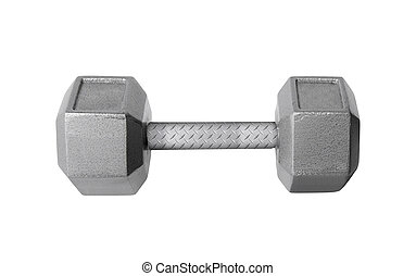 a dumbbell Isolated on white background