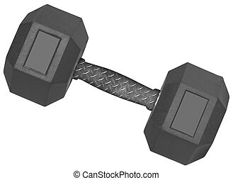 a dumbbell Isolated on white