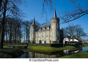 Dutch castle - A Dutch castle on a small island in a lake....