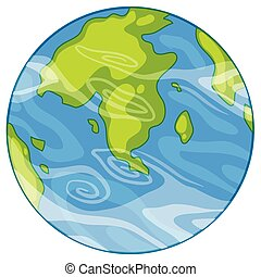 A earth icon on white background