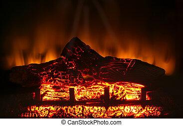Electric fireplace - A Electric fireplace fire