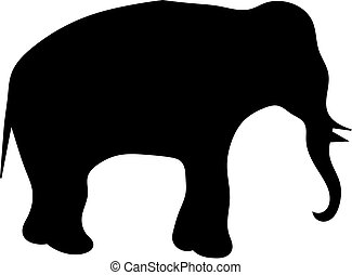 A elephant - silhouette of a elephant
