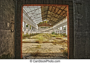 A empty and derelict industrial