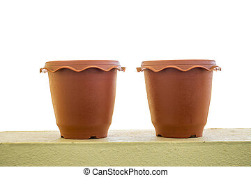 A empty flower pot