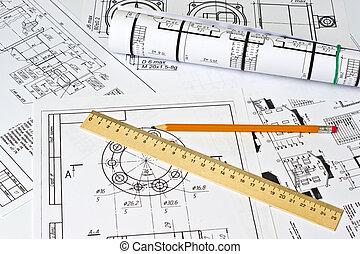 a, engenharia, desenho
