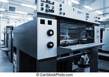 a, equipamento, para, imprimindo