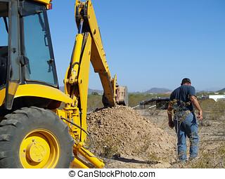 a, escavação grande