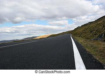 a, estrada montanha