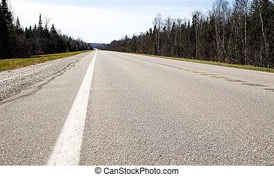 a, estrada, para, nenhuma parte