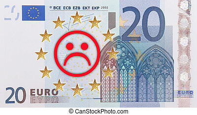 European flag  - A European flag with a frowning face