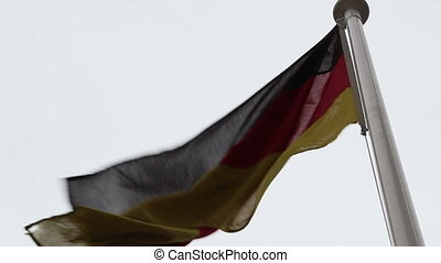 A Europian flag waving on the breeze of the wind