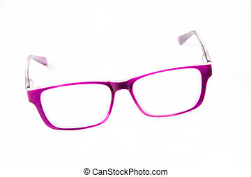 A eyeglasses isolated on the white background.