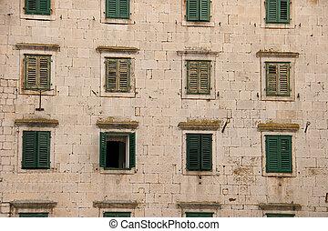 A facade of the Croatian building