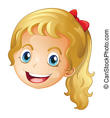 A face of a girl - Illustration of a face of a girl on a...