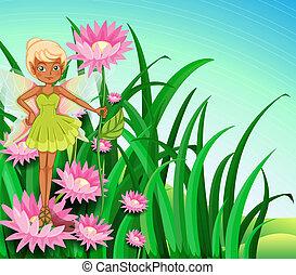 A fairy at the garden