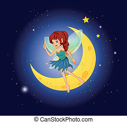 A fairy near the moon