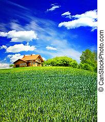 a, família, propriedade