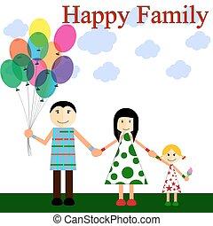 a, famille heureuse