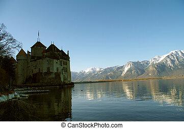 A famouse castle Chillion at Leman, Switzerland