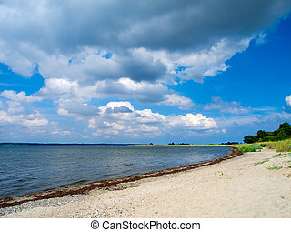 baltic sea - a fantastic cloudy summer sky and the baltic...